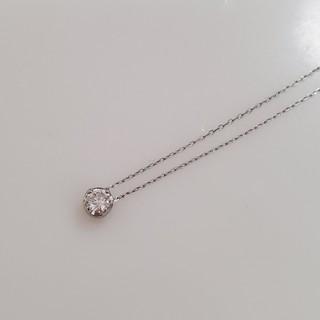 ヨンドシー(4℃)の4℃ プラチナ ダイヤ ネックレス PT850 0.1カラット 美品(ネックレス)