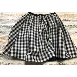 ランバンオンブルー(LANVIN en Bleu)の38 ランバンチェックスカート(ひざ丈スカート)