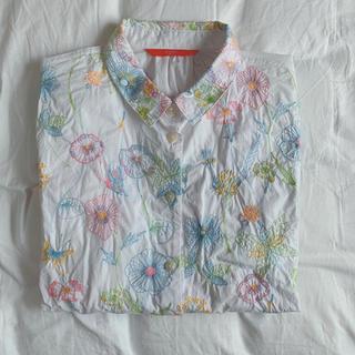 Design Tshirts Store graniph - グラニフ granigh 刺繍 長袖 シャツ
