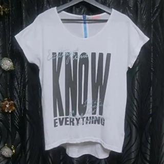 アディダス(adidas)のSKYBOMBERホワイトブルーバックジッパー仕様ロング丈フィットネスTシャツL(トレーニング用品)