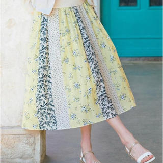エニィスィス(anySiS)のスプリングパネルプリントスカート(ロングスカート)