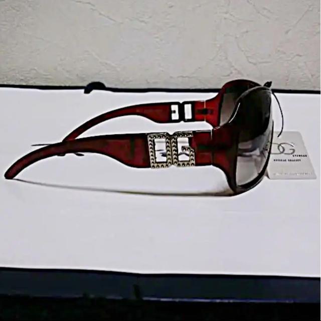DOLCE&GABBANA(ドルチェアンドガッバーナ)のハワイ購入DGシルバーメタルエンブレムディアドロップグラデーションサングラス新品 メンズのファッション小物(サングラス/メガネ)の商品写真