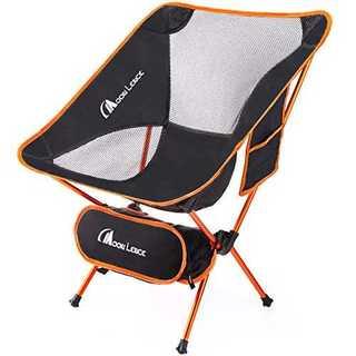 オレンジアウトドアチェア キャンプ椅子 折りたたみ 耐荷重150kg(テーブル/チェア)