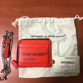 オフホワイト(OFF-WHITE)のoff-white 財布 ミニウォレット チェーン付き(折り財布)