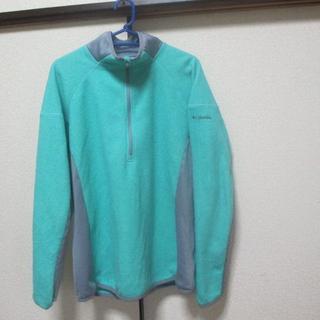 コロンビア(Columbia)のLサイズ■コロンビア ★Columbia■フリースジャケット 緑/グレー(ベスト)