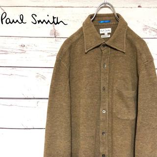 ポールスミス(Paul Smith)のPaul Smith ポールスミス 微起毛カットソー素材シャツジャケット 茶 L(シャツ)