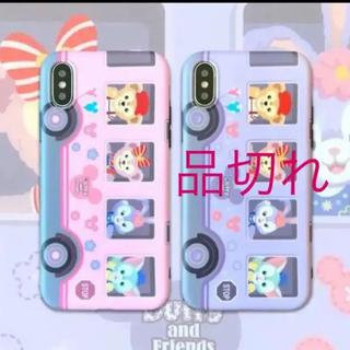 ダッフィー(ダッフィー)のディズニーフレンズ iPhone SE2カバー♡ピンク(iPhoneケース)