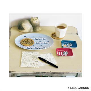 リサラーソン(Lisa Larson)のリサラーソン ねこがいっぱい!インテリアトレー&コースターセット リンネル付録(テーブル用品)