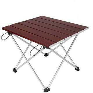 【ロールテーブル・キャンプ用品】 アルミ製 アウトドアテーブル 耐荷重30k(テーブル/チェア)