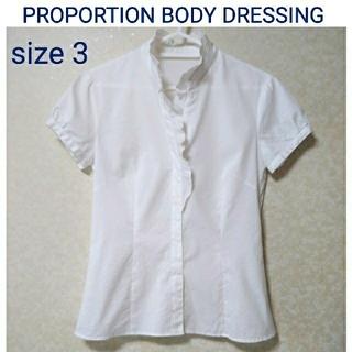 プロポーションボディドレッシング(PROPORTION BODY DRESSING)のPROPORTION BODY DRESSING 半袖 フリルブラウス M(シャツ/ブラウス(半袖/袖なし))