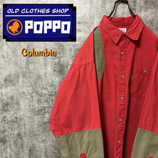 コロンビア(Columbia)のコロンビア☆ロゴタグ入りチノ切替ハンティングシャツ 90s(シャツ)