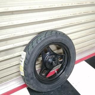スズキ(スズキ)のスズキ レッツ4 フロントホイール 新品タイヤセット すぐ使えます(^^)予備に(パーツ)