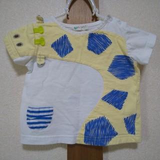 ナルミヤ インターナショナル(NARUMIYA INTERNATIONAL)のbaby cheer キリンTシャツ 80サイズ ベイビーチアー(Tシャツ)