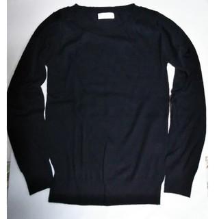 アイアイエムケー(iiMK)の黒セーター 薄め(ニット/セーター)
