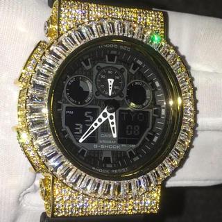 ジーショック(G-SHOCK)の■最新作■VVSダイヤ(cz) バゲットベゼル G-Shock 18KGP(腕時計(デジタル))