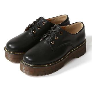 グレイル(GRL)のGRL 2Way厚底レースアップシューズ(ローファー/革靴)