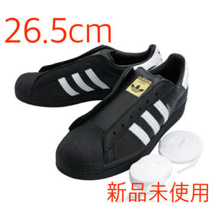 adidas - 【新品】ADIDAS SUPERSTAR LACELESS BLACK 26.5