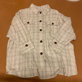 ヘザー(heather)のツイードチェックロングシャツ(シャツ/ブラウス(長袖/七分))