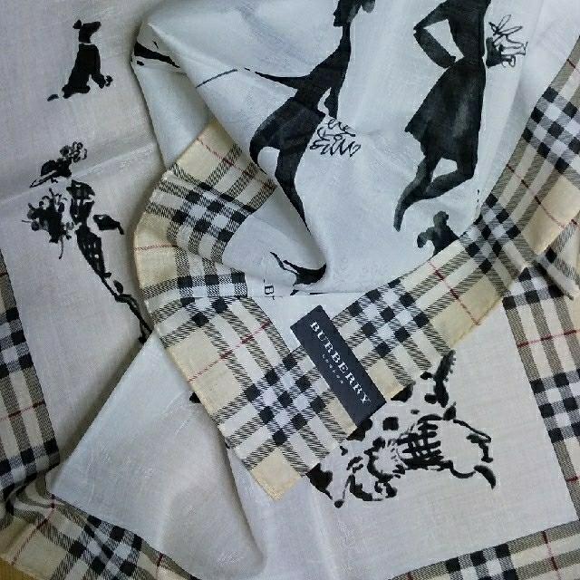 BURBERRY(バーバリー)の新品 BURBERRY① ハンカチーフ 女の子 ワンちゃん お散歩 大判 レディースのファッション小物(ハンカチ)の商品写真