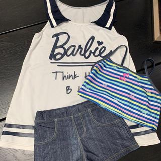 バービー(Barbie)のバービー 水着 3点セット(水着)
