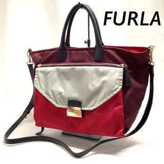 Furla - FURLA  2WAY ハンド バッグ ポケット 取り外し可