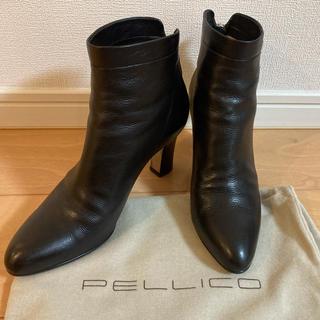 PELLICO - PELLICO BACK ZIP ショートブーツ 37