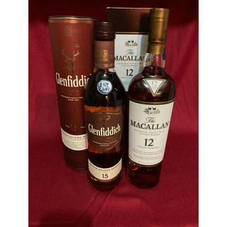 サントリー - ウィスキーセット(マッカラン12年旧ボトル、グレンフィディック 15年