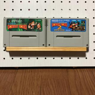 スーパーファミコン(スーパーファミコン)のスーパードンキーコング 2本セット(家庭用ゲームソフト)