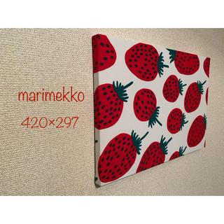 マリメッコ(marimekko)のマリメッコ ピエニマンシッカ A3サイズ ハンドメイド ファブリックパネル(インテリア雑貨)