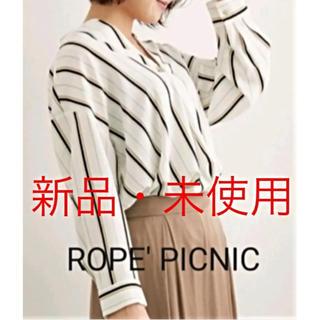 ロペピクニック(Rope' Picnic)の【ロペピクニック 】ランダムストライプキーネックブラウス(シャツ/ブラウス(長袖/七分))