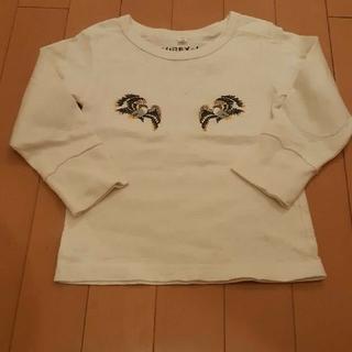 アヴィレックス(AVIREX)のアヴィレックスAVIREXキッズ白長袖Tシャツ100サイズ(Tシャツ/カットソー)