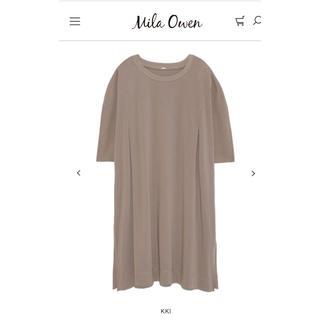 ミラオーウェン(Mila Owen)のMila Owenミラオーウェン ショルダータックチュニックTシャツ(Tシャツ(半袖/袖なし))