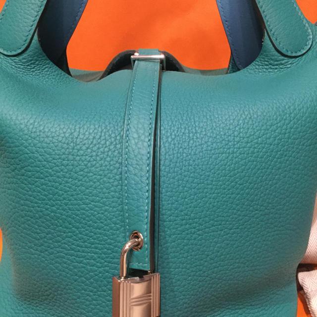 Hermes(エルメス)のみつ様専用 HERMES エルメスピコタンロックMM 2019年 エクラ レディースのバッグ(ハンドバッグ)の商品写真