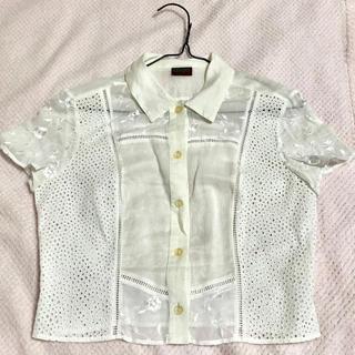 ケンゾー(KENZO)のKENZO レースシャツ ブラウス(シャツ/ブラウス(半袖/袖なし))