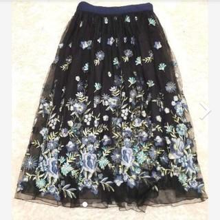 リリーブラウン(Lily Brown)のLily Brown♡リリーブラウン♡チュール刺繍スカート♡チュールスカート♡F(ひざ丈スカート)