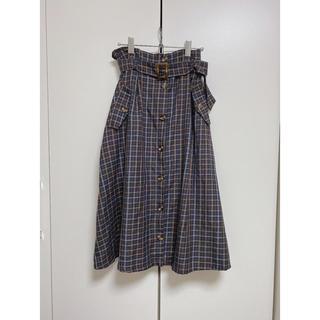 マジェスティックレゴン(MAJESTIC LEGON)のチェックトレンチ風スカート(ロングスカート)