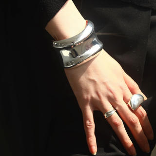TODAYFUL - TODAYFUL Nuance Wide Cuff  バングル シルバー