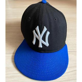 ニューエラー(NEW ERA)のニューエラキャップ キッズ 黒青(帽子)