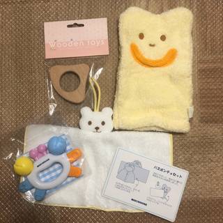 ミキハウス(mikihouse)のバスミトン 木のおもちゃ 歯固めクラブ(がらがら/ラトル)