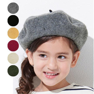 アンパサンド(ampersand)のAmpersand【アンパサンド】ベレー帽ブラック(帽子)