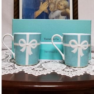 Tiffany & Co. - TIFFANY&CO.   新品未使用 ブルーリボン ペアマグカップ