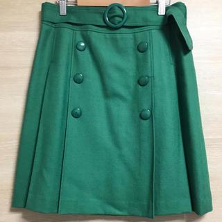 ミッシュマッシュ(MISCH MASCH)のお値下げ♡ミッシュマッシュ ベルト付き スカート M グリーン(ひざ丈スカート)