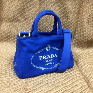 PRADA - ブルー2WAYカナパバッグ
