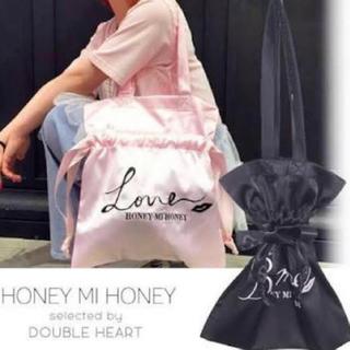 Honey mi Honey - HONEY mi HONEY サテントートバッグ ピンク