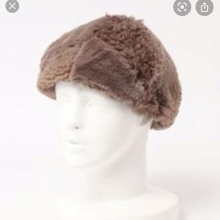 サマンサモスモス(SM2)のサマンサモスモス パッチワークベレー帽 ブラウン(ハンチング/ベレー帽)