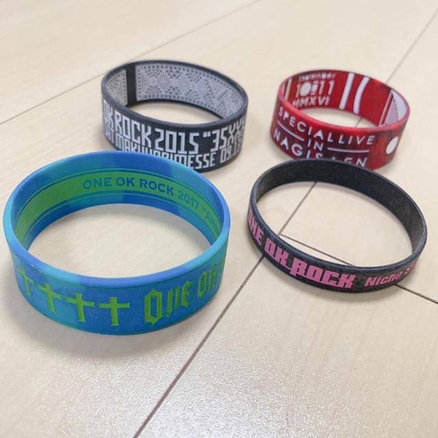 ONE OK ROCK(ワンオクロック)のONE OK ROCK ラバーバンド4本セット エンタメ/ホビーのタレントグッズ(ミュージシャン)の商品写真
