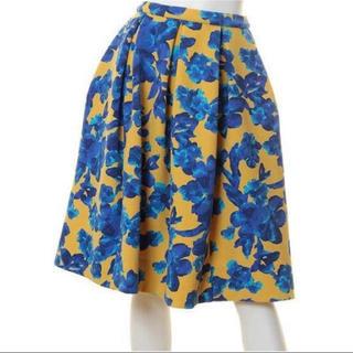 リリーブラウン(Lily Brown)のリリーブラウン   フラワー スカート 花柄(ひざ丈スカート)