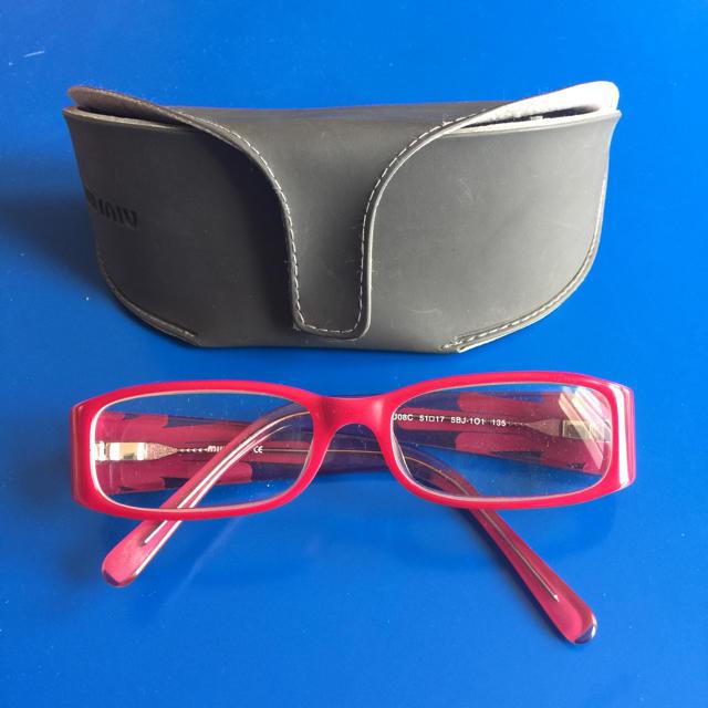 miumiu(ミュウミュウ)のMIU MIU 眼鏡 レディースのファッション小物(サングラス/メガネ)の商品写真