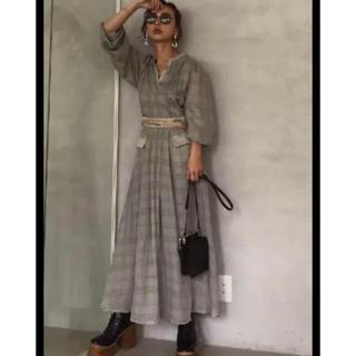 アメリヴィンテージ(Ameri VINTAGE)のアメリヴィンテージ Check Retro Slender Dress(ロングワンピース/マキシワンピース)