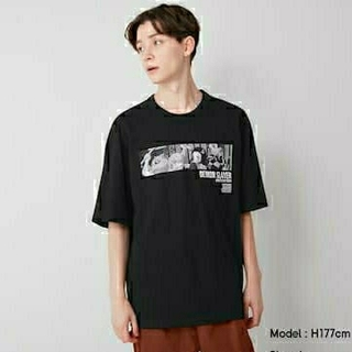 ジーユー(GU)の【鬼滅の刃】guコラボ Tシャツ 新品未使用 Mサイズ(Tシャツ/カットソー(半袖/袖なし))